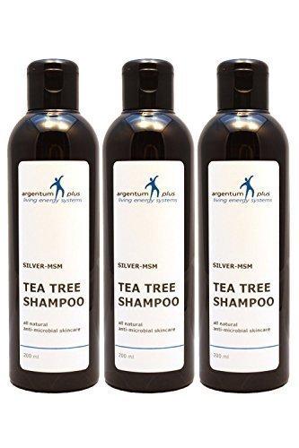 Colloidal Silver-MSM Tea Tree Shampoo 3 x 200 ml