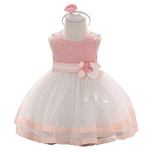 Jup'Elle Little Baby Girl Dress Flower Ruffles Party Wedding Pageant Princess Pink Dresses