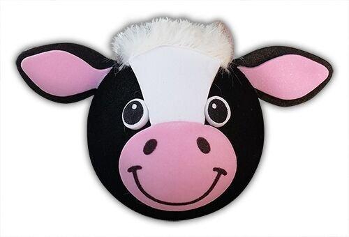 Tenna Tops Quantity 2 pcs pack Bessie the Cow Car Antenna Topper/Antenna Ball/Car Mirror Dangler