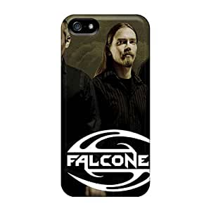 Shock Absorption Cell-phone Hard Covers For Iphone 5/5s With Custom High-definition Falconer Band Pictures LauraAdamicska