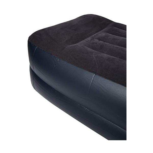Intex Pillow Rest Raised with Fibre-Tech Bip Twin Air Bed – Black/Blue