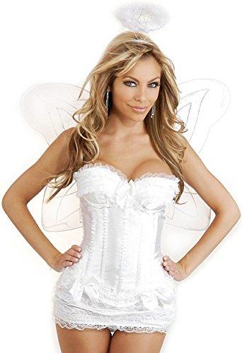 [Daisy Corsets 4 PC Sexy Angel Women's Costume] (Halo Halloween Costumes Elite)