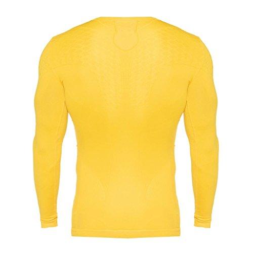 Maillot de compression Errea Davor manches longues jaune