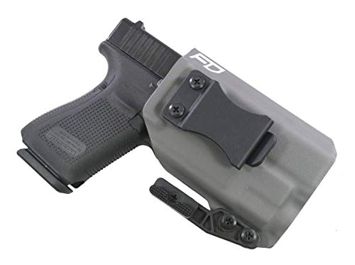 Fierce Defender IWB Kydex Holster Glock 19 23 32 w/TLR7 The Paladin Series  -Made in USA- GEN 5 Compatible (Gunmetal Grey)