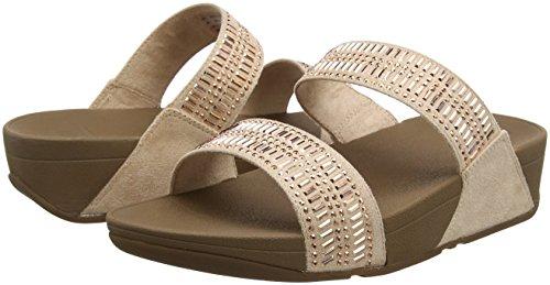 Fitflop nude Aperta Donna Beige Sandali Sandals 137 Incastone Slide Punta rSZcpr4HF