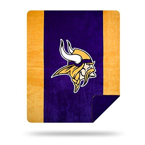 Officially Licensed NFL Minnesota Vikings Denali Silver Knit Throw Blanket, Gold, 60