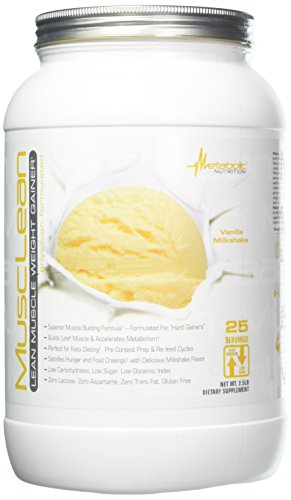 Metabolic Maintenance Nutrition Musclean Milkshake Weight Gainer, Vanilla, 2.5 (Metabolic Shake)