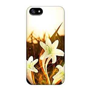 Premium Protection Abstract Flowers Cases Covers For Iphone 5/5s- Retail Packaging