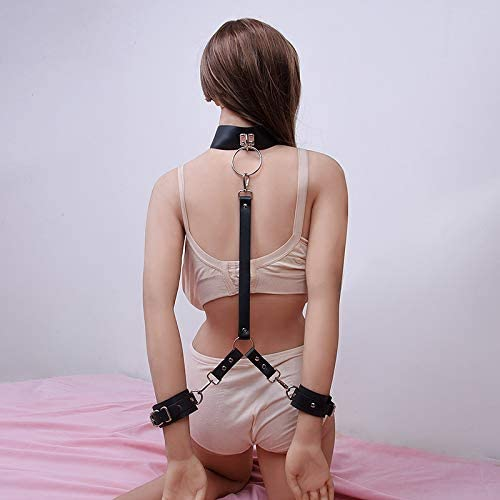 Iedogo Three Points Connect On Back Practical Leather Straps
