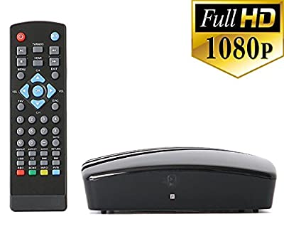 WHY PAY FOR CABLE? Use this amazing Digital Converter Box to view and record HD digital channels for FREE (Instant or Scheduled Recording, DVR, 1080P HDTV, High Resolution, HDMI Output, 7 Day Program Guide And Media Player)