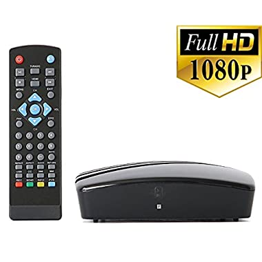 Get Rid of Cable - Use this Digital TV Converter Box To View and Record Full HD Digital Channels at no Cost (Instant or Scheduled Recording, DVR, 1080P HDTV, HDMI Output)