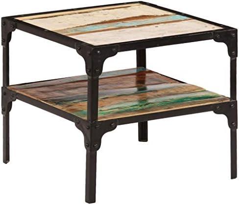 2020 Cool Tidyard Moderne salontafel/woonkamertafel van gerecycled massief hout en staal/capaciteit 20 kg/45 x 45 x 40 cm hJkmZJZ