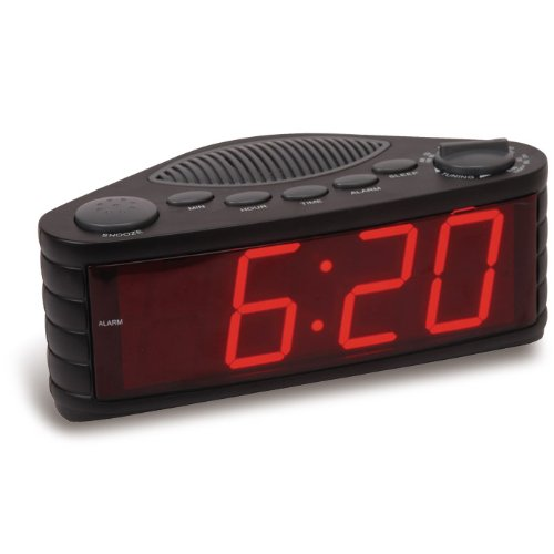 "Proscan PCR1206 1.8"" Jumbo Digit AM/FM Clock Radio with Dual"