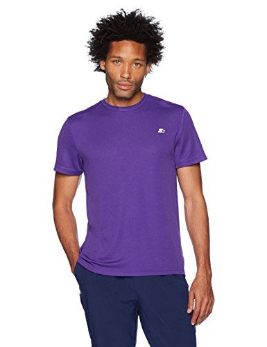 (Starter Men's Athletic-Fit Short Sleeve Tech T-Shirt, Amazon Exclusive, Team Purple, Extra Large)
