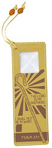 The Lord is My Shepherd Faux Leather Inspirational Bookmark with Magnifier Window