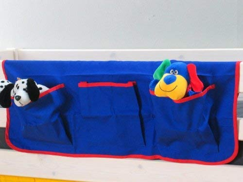 Thuka Fabric Hanging Bag Organizer Storage Bed Loft Bed Blue