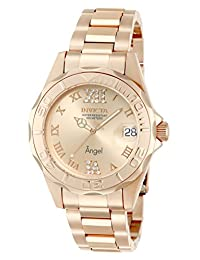 Invicta Men's 14398 Angel Analog Swiss-Quartz Rose Gold Watch