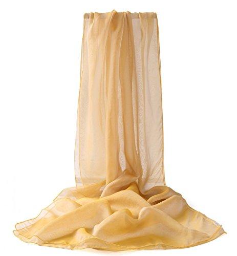 Stola Foulard Bicolore Citron Prettystern Femme Xxl Soir Du Jaune Soie Robe De Irisé 9 Taffetas H5wRFq