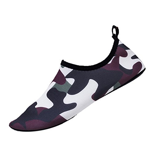 WILLBE Swim Water Shoes Summer Quick-Dry Barefoot Outdoor Beach Sports Shoes Swim Beach Shoes Surfing Yoga Pool Exercise Camouflage -