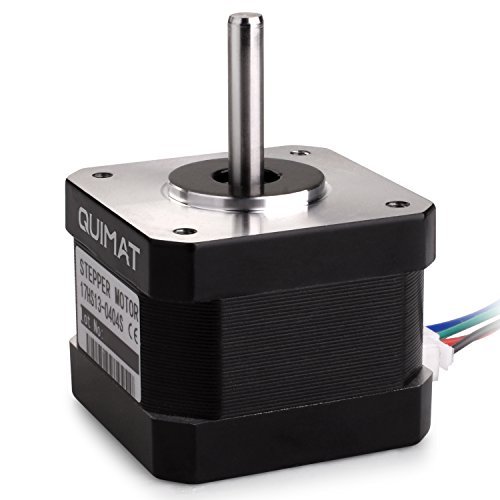 Nema 17 Stepper Motor,Quimat Stepper Motor Bipolar 0.4A 36.8oz.in(26Ncm) 34mm Body 4-lead w/ 0.3m Cable and Connector for 3D Printer/CNC by Quimat