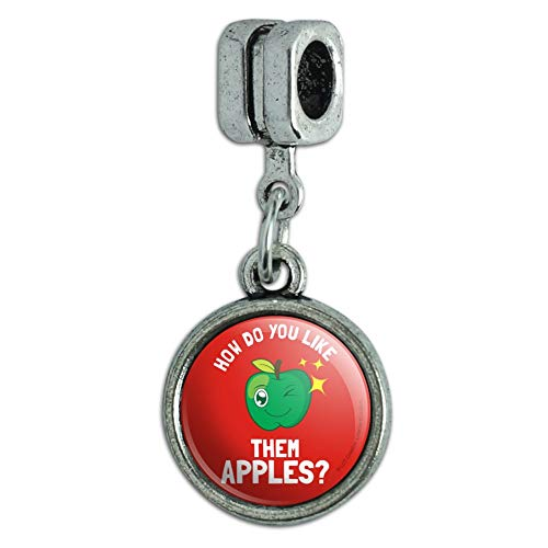 GRAPHICS & MORE How Do You Like Them Apples Funny Humor Italian European Style Bracelet Charm Bead