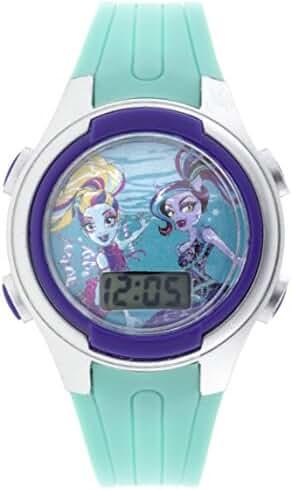 MATTEL Girl's  Monster High Digital Plastic Monster High Blue Watch MHKD16039CTS