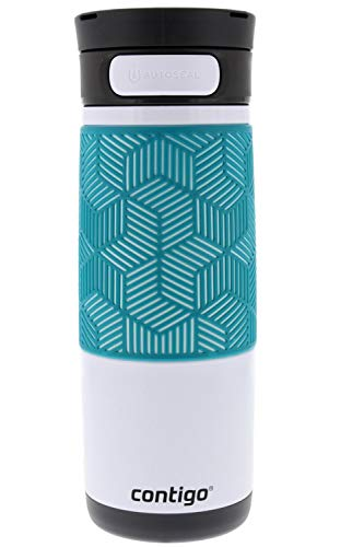 Contigo Autoseal Stainless Steel Transit Travel Mug - Grip Included - Thermalock Insulation Keeps Drinks Hot up To 5 Hours and Cold up To 12 Hours - Autoseal Prevents Spills - 16 Ounces - Monaco