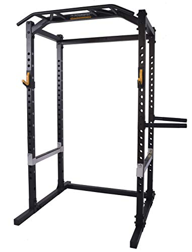 (Powertec Fitness WB-PR18-B Power Rack Black Exercise Power Cages, Black)