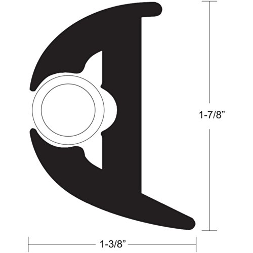 TACO METALS V11-3426BWK70-2 / TACO Flex Vinyl Rub Rail Kit - Black w/White Insert - 70