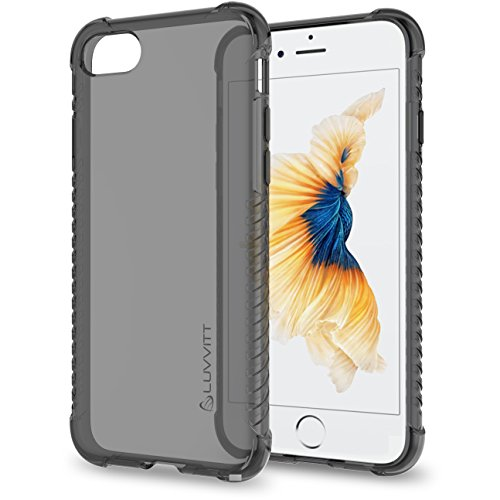 Luvvitt Clear Grip iPhone 7 Case / iPhone 8 Case with Air Pocket Reinforced Corners for Apple iPhone 7 (2016) and iPhone 8 (2017) - Transparent - Transparent Black