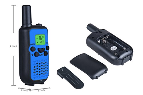 DuaFire Durable Kids Walkie Talkies, 2 Way Radio for Kids Playing Games, Back-lit LCD Screen and Strengthen VOX Free Your Hands (Blue)