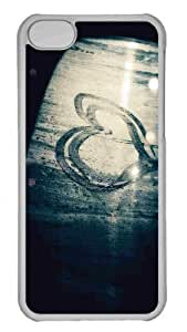 Customized iphone 5C PC Transparent Case - Window Steam Heart Personalized Cover