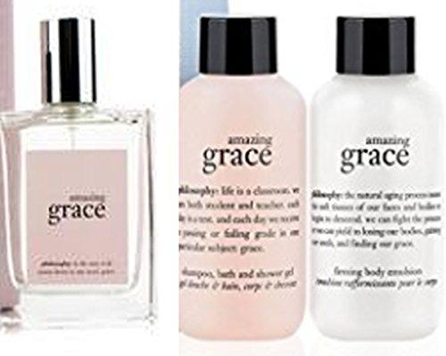 - Philosophy Amazing Grace Mini Fragrance/Bath/Body Trio ~ Amazing Grace