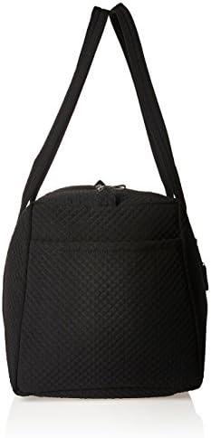 Vera Bradley Microfiber Large Travel Duffle Bag, Classic Black