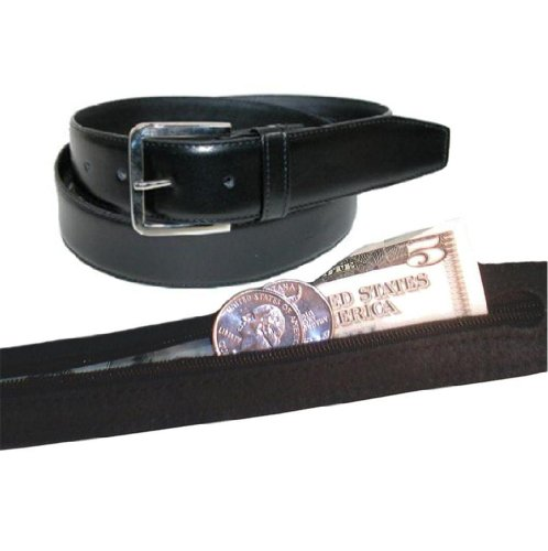 Men's Leather Money Belt Size 38 - ()