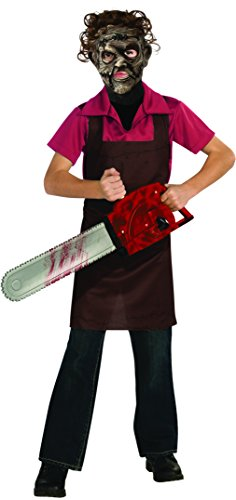 Texas Chainsaw Massacre III Child's Leatherface Costume, Large (Chainsaw Massacre Halloween Costume)