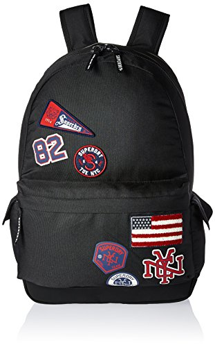 Superdry Women's Ivy Badged Montana Backpack, Patch Black, One - Childrens Superdry