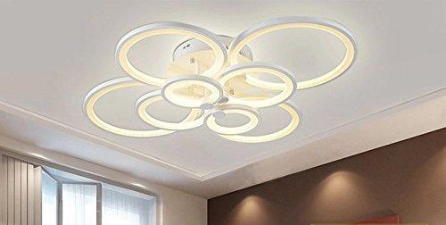 Gowe Luxus LED Abajur Kronleuchter Deckenleuchte Lustres Fr Home Dekoration Modern Creative Lampe Wohnzimmer Lampenschirm Farbe Weiss