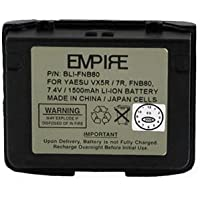 Vertex VX7R 2-Way Radio Battery (Li-Ion 7.4V 1300mAh) Rechargeable Battery - replacement for Yaesu/Vertex FNB-80 Battery