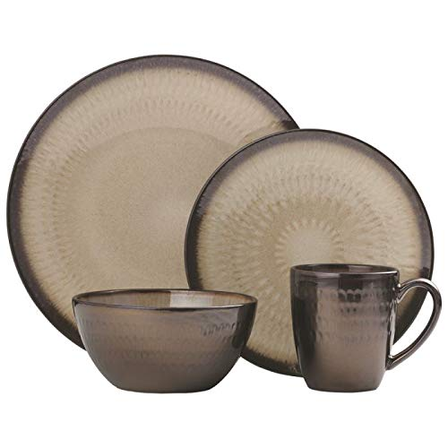 Gourmet Basics Anastasia Cream 16 Piece Dinnerware Set