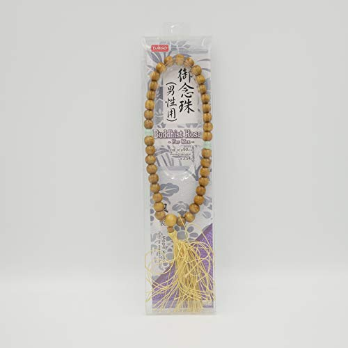 - Japanese Rosary (JUZU), Praying (Prayer) Beads for Wakes, Funerals, Memorial Services and Grave Visits, Buddhist Altar Fittings (Wood) for Men, I.D. : φ3.54