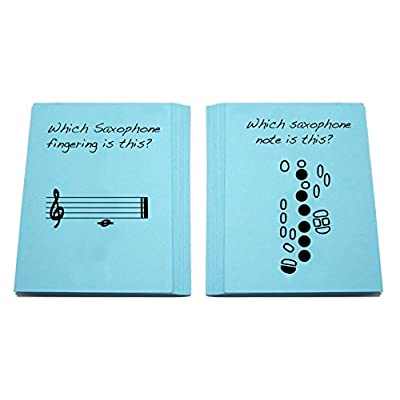 Saxophone Fingering Flashcard Set: Musical Instruments