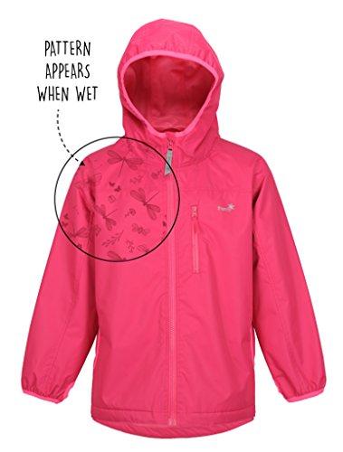 Therm SplashMagic Raincoat, Lightweight Waterproof Girls Rain Jacket with Magic Pattern