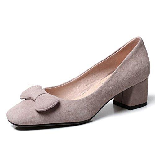Alto Four Seasons de Zapatos Trabajo Tacones de Zapatos Gris Dulces Zapatos Tacón Zapatos de Altos Zapatos Mujer GAOLIXIA Alto de de Sandalias Damas de Tacón wqvT1pPq