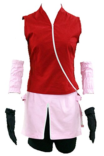 Gaiden Costume Ninja Halloween (Anime Naruto Konoha Haruno Sakura Cosplay Costumes Ninja Shinobi japanese)