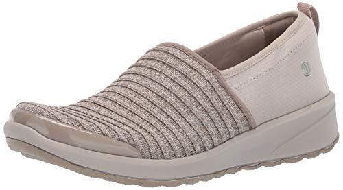 BZees Women's Glee Sneaker, Mushroom Ribbed Knit, 9 W US