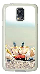 Beach landscape crab Easter Thanksgiving Personlized Masterpiece Limited Design PC White Case for Samsung Galaxy S5 I9600 by Cases & Mousepads