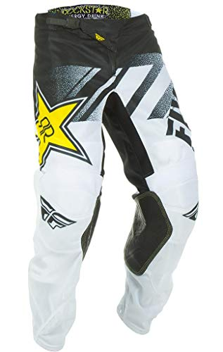 - Fly Racing Men's Kinetic Mesh Rock Star Pants White/Black Size 34