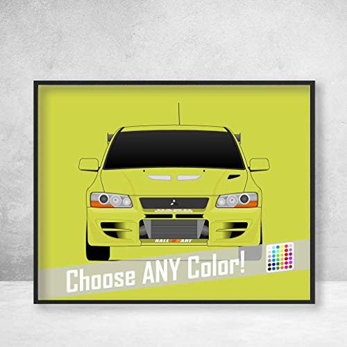 Mitsubishi Lancer Evolution VII from the Fast and the Furious Brian O'Connor (Paul Walker) Fast and Furious Art Poster Print Wall Art Decor Handmade EVO VII CT9A 4G63 RS GSR GT-A
