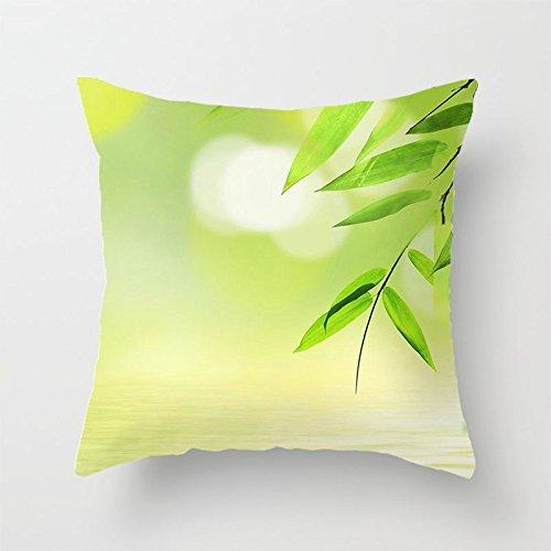 yinggouen bambú hojas decorar para un sofá funda de almohada ...